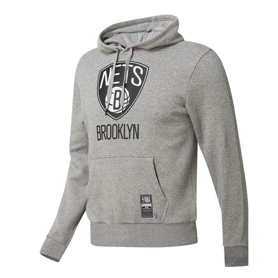 Brooklyn Nets Mens Fleece Hoodie, Grey, rebel_hi-res
