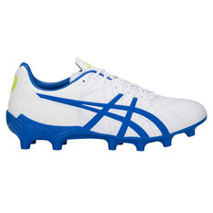 Asics Lethal Tigreor IT FF Mens Football Boots White / Blue US Mens 7 / Womens 8.5, White / Blue, rebel_hi-res