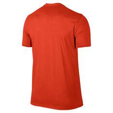 Nike Mens Dri-FIT Training Tee Orange S, Orange, rebel_hi-res