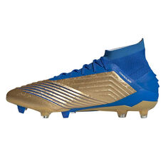 adidas Predator 19.1 Football Boots Gold / Blue US Mens 7 / Womens 8, Gold / Blue, rebel_hi-res