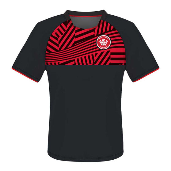 Western Sydney Wanderers Youth Supporter Training Tee, , rebel_hi-res