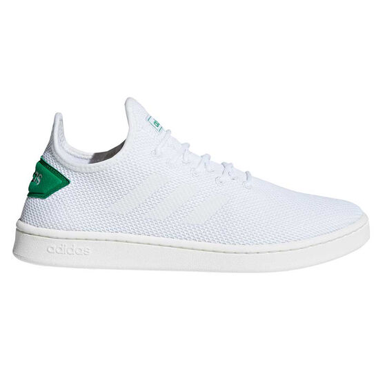 adidas Court Adapt Mens Casual Shoes, White / Green, rebel_hi-res