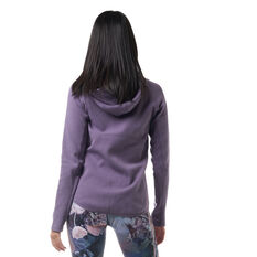 Ell & Voo Womens Helen Full Zip Training Hoodie Purple XXS, Purple, rebel_hi-res