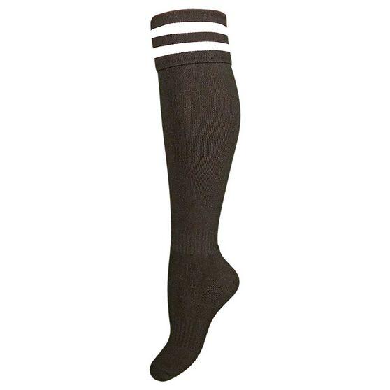 Burley Kids Football Socks, Black  /  white, rebel_hi-res