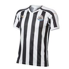 Newcastle United 2018 / 19 Mens Home Jersey Black / White S, Black / White, rebel_hi-res