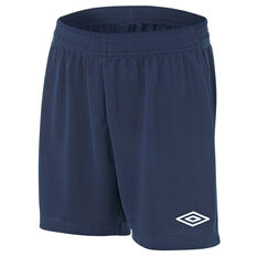 Umbro League Junior Football Shorts Navy S, Navy, rebel_hi-res