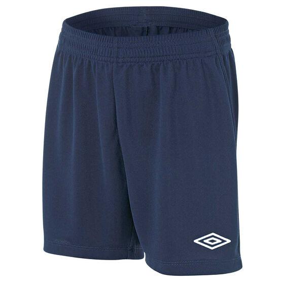 Umbro League Junior Football Shorts, Navy, rebel_hi-res