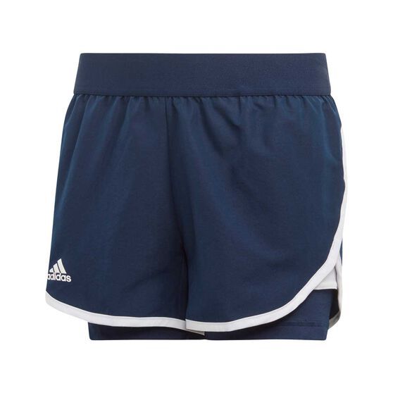 adidas Girls Club Shorts, Navy / White, rebel_hi-res