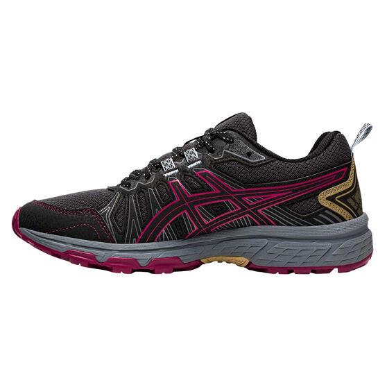Asics GEL Venture 7 Womens Running Shoes, Grey/Pink, rebel_hi-res
