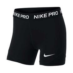 Nike Girls Pro Boy Leg Shorts Black / White XS, Black / White, rebel_hi-res
