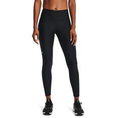 Under Armour Womens HeatGear No-Slip Waistband Full Length Tights Black XS, Black, rebel_hi-res