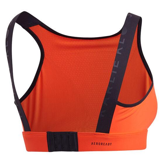 adidas Karlie Kloss Womens Medium Support Sports Bra, Orange, rebel_hi-res