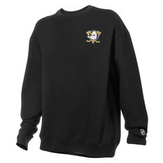 Anaheim Ducks Mens Gamily Crew Sweatshirt, Black, rebel_hi-res