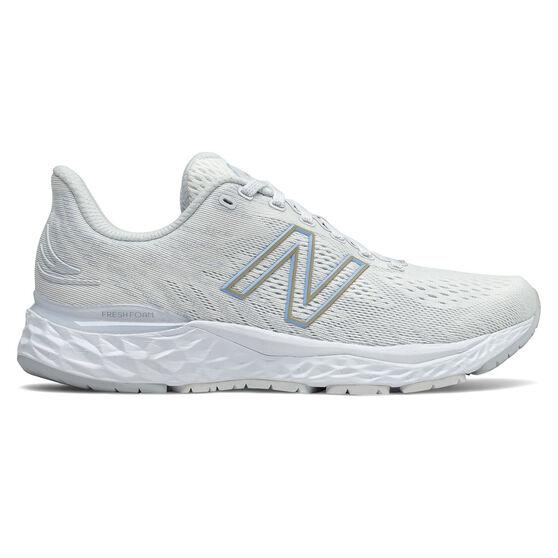 New Balance 880 v11 Womens Running Shoes, White/Grey, rebel_hi-res