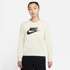 Nike Womens Sportswear Essential Fleece Sweatshirt, White, rebel_hi-res