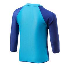 Speedo Boys Leisure Whale Long Sleeve Rash Vest Blue/Print 4, Blue/Print, rebel_hi-res