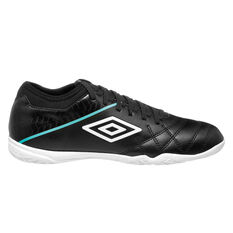 Umbro Medusae III Club Indoor Soccer Shoes Black / White US Mens 7 / Womens 8.5, Black / White, rebel_hi-res