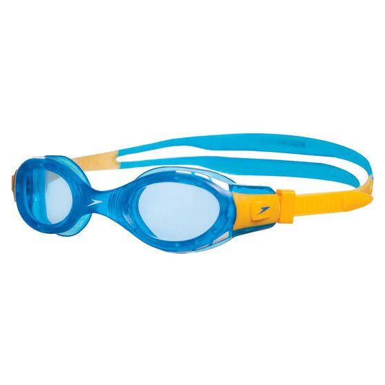 Speedo Futura Biofuse Junior Swim Goggles Blue / Yellow, , rebel_hi-res
