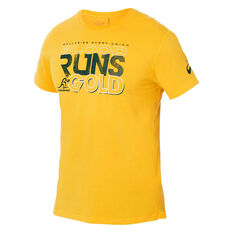 Wallabies 2019 Mens Supporter Tee Gold S, Gold, rebel_hi-res