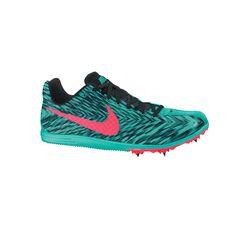Nike Zoom Rival D 8 Senior Unisex Track and Field Shoes Green / Black US 5, Green / Black, rebel_hi-res
