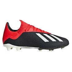 adidas X 18.3 Mens Football Boots Black / White US 7, Black / White, rebel_hi-res