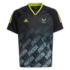 adidas Boys Messi AEROREADY Football Jersey Black/Yellow 8, Black/Yellow, rebel_hi-res