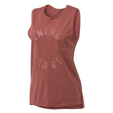 Running Bare Womens Easy Rider Muscle Tank Toffee 8, Toffee, rebel_hi-res