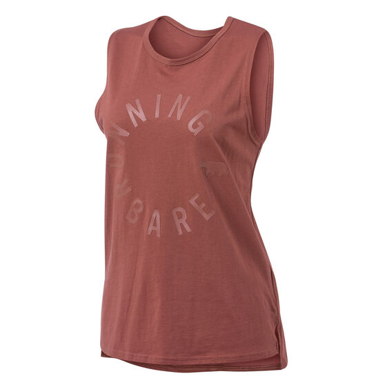 Running Bare Womens Easy Rider Muscle Tank, Toffee, rebel_hi-res