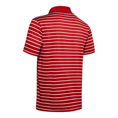 Under Armour Mens Performance 2.0 Divot Stripe Golf Polo Red M, Red, rebel_hi-res