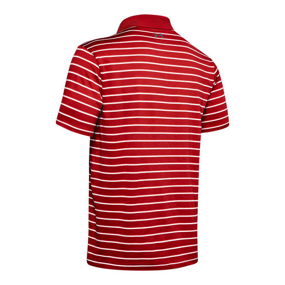 Under Armour Mens Performance 2.0 Divot Stripe Golf Polo Red S, Red, rebel_hi-res