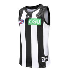 Collingwood Magpies 2020 Mens Away Guernsey Black / White S, Black / White, rebel_hi-res