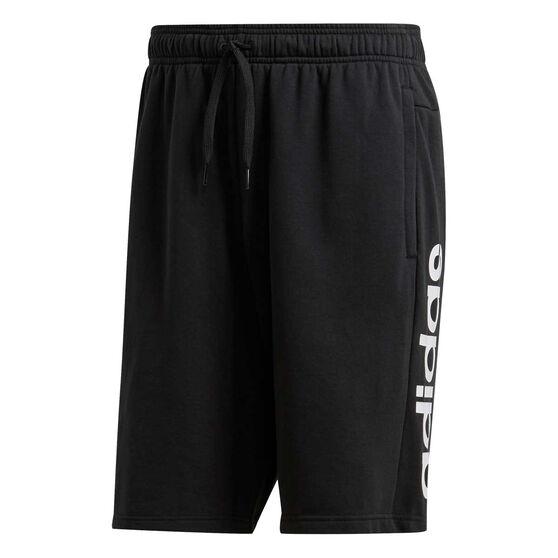 adidas Mens Essentials Linear French Terry Shorts, Black, rebel_hi-res