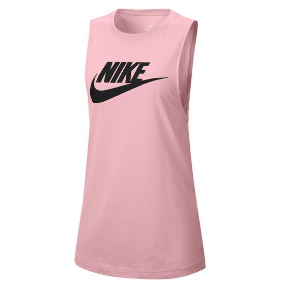 Nike Womens Sportswear Futura Muscle Tank, Pink, rebel_hi-res