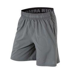 Under Armour Mens Mirage 8in Training Shorts Grey / Black L Adult, Grey / Black, rebel_hi-res