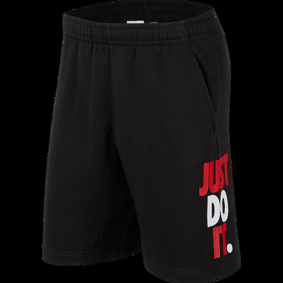 Nike Mens Sportswear JDI Fleece Shorts, Black, rebel_hi-res