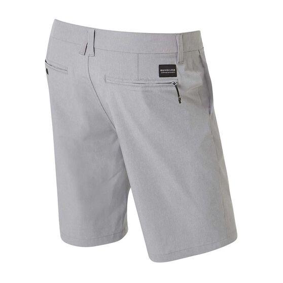 Quiksilver Mens Union Heather Amphibian Shorts, Grey, rebel_hi-res