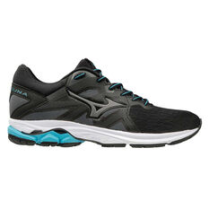 Mizuno Wave Kizuna Womens Running Shoes Black / Blue US 6, Black / Blue, rebel_hi-res