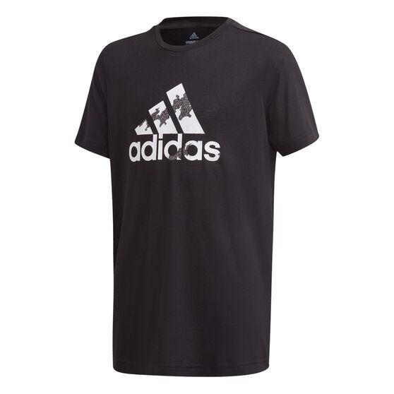 adidas Boys Aeroready Prime Tee, Black/White, rebel_hi-res