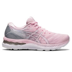 Asics GEL Nimbus 23 Womens Running Shoes Pink/Silver US 6, Pink/Silver, rebel_hi-res