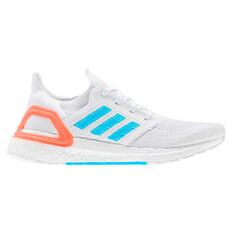adidas Primeblue Ultraboost 20 Mens Running Shoes, White/Blue, rebel_hi-res