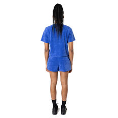 Majestic Womens Terry Towelling Boxy Tee Blue XS, Blue, rebel_hi-res