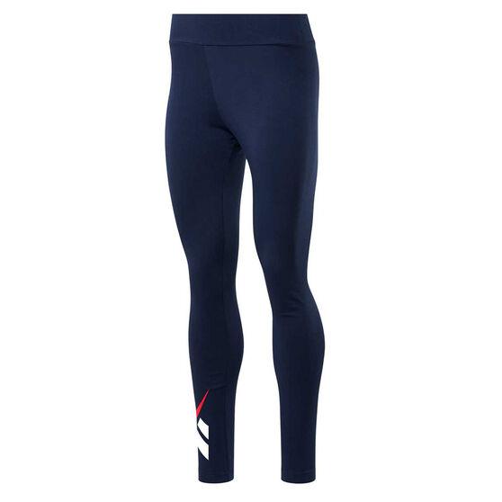 Reebok Womens Classic Vector Leggings, Navy, rebel_hi-res