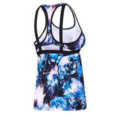 Speedo Womens ECO Virtual Bloom Swim Tank Purple 8, Purple, rebel_hi-res