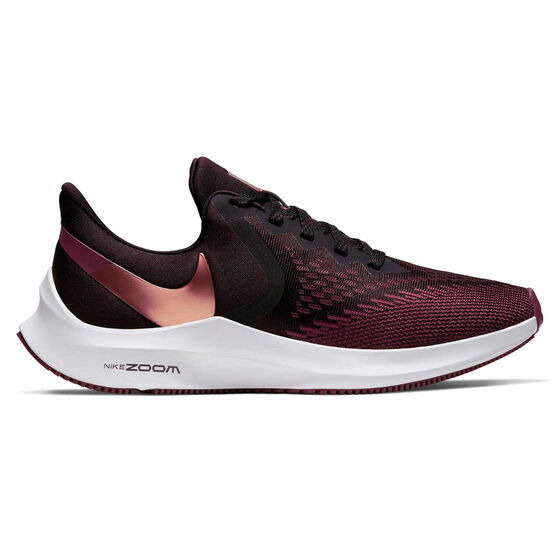 Nike Air Zoom Winflo 6 Womens Running Shoes, Red, rebel_hi-res