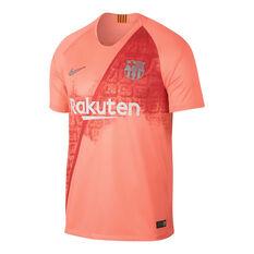 FC Barcelona 2018 / 19 Mens 3rd Jersey Pink S, Pink, rebel_hi-res