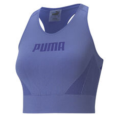 Puma Womens Evostripe Evoknit Crop Blue XS, Blue, rebel_hi-res