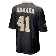 Nike New Orleans Saints Alvin Kamara Mens Home Jersey Black S, Black, rebel_hi-res