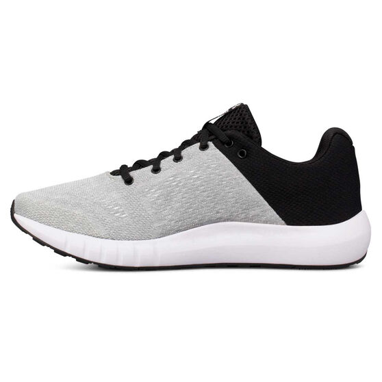 Under Armour Micro G Pursuit Womens Running Shoes, White / Black, rebel_hi-res