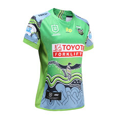 Canberra Raiders 2021 Womens Indigenous Jersey Green 8, Green, rebel_hi-res