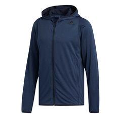adidas Mens FreeLift Full Zip Training Hoodie Blue S, Blue, rebel_hi-res